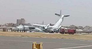 إغلاق مطار الخرطوم بعد اصطدام طائرتين