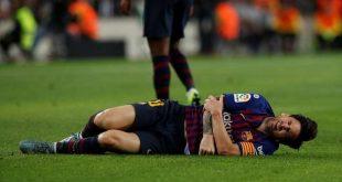 شاهد .. ميسي يتعرض لإصابة قوية ويغادر على إثرها الملعب