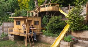 ابداعات العزل المنزلى.. أب يبنى منزل شجرة لابنتيه بتكلفة 77 جنيه إسترلينى