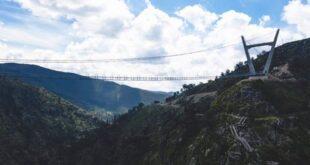 افتتاح أطول جسر مشاة معلق بالعالم فى البرتغال بطول 516