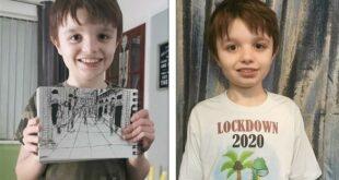 فنان صغير..طفل بريطانى مصاب بالتوحد يرسم لوحات مبهرة لمدن العالم من الذاكرة