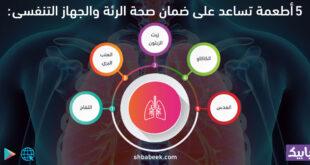 5 أطعمة تساعد على ضمان صحة الرئة والجهاز التنفسى