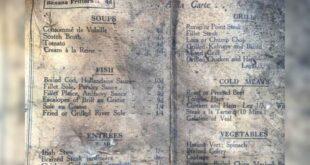 العثور على قائمة طعام تعود لأكثر من 100 عام بمقهى فى ليفربول