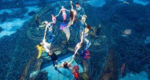 عرض حوريات بحر تحت الماء فى منتجع صينى يدخل 'جينيس' برقم قياسى جديد