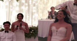 تضامنا مع والدتها التى تحارب السرطان.. عروس وزوجها يحلقان رؤوسهما فى الزفاف