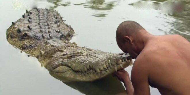 صياد يقيم جنازة لتمساح بعد علاقة صداقة دامت 20 عام