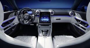 مرسيدس AMG SL 2022 الجديدة كلياً تكشف داخليتها