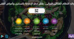 فوائد النظام الغذائى النباتى.. يقلل خطر الإصابة بالسكرى وأمراض القلب